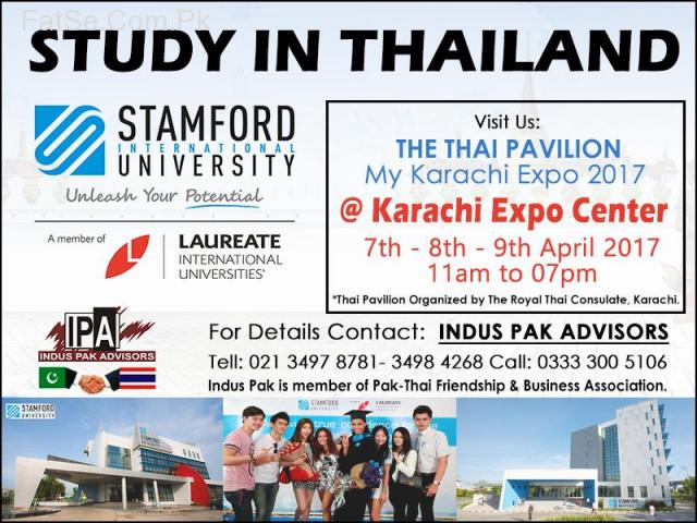 Thailand Universities information desk at Expo Karachi