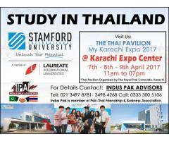 Thailand Universities information desk at Expo Karachi