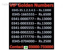 VIP Golden Numbers Available