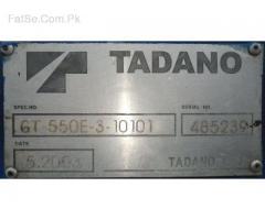 TADANO CRANE model 2003 50 m/ton loading