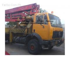 Concrete pump 28+4 mater flexible pipes 32 matter import 2006