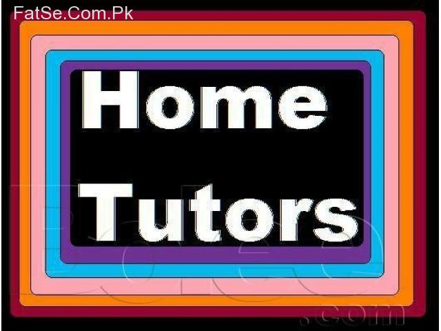 .Home Tutors required for  Pindi Islamabad & on  Skype world wide