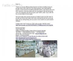 baryte ore lumps & powder