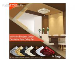 Voldam 18″ 2×2 (3 in 1) option Hi-Speed Decorative False Ceiling Fan
