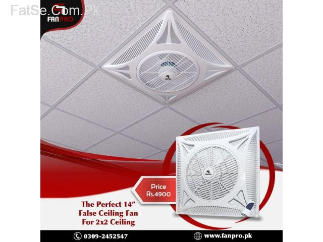 Fan Pro The Perfect Ceiling Fan for 2x2 Ceiling.