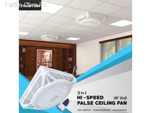 Twister Hi-Speed False Ceiling Fan 18″ 2×2 (open)