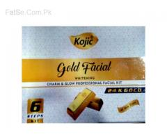 Kojic Gold Charm & Glow 24 K Gold Facial Kit  6 steps