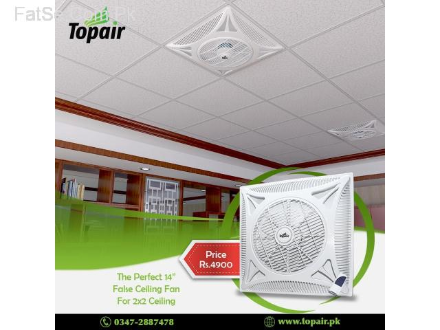 The Perfect Ceiling Fan for 2x2 Ceiling Top Air