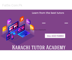 Home tutor / tutor / tutor academy in Karachi