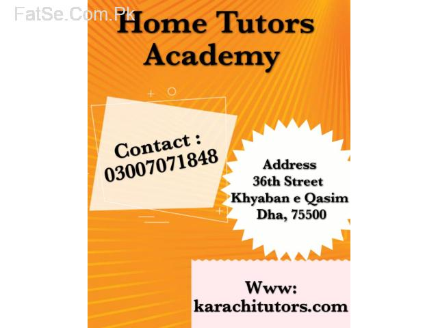 Home tutor in Karachi / tutor academy in Karachi