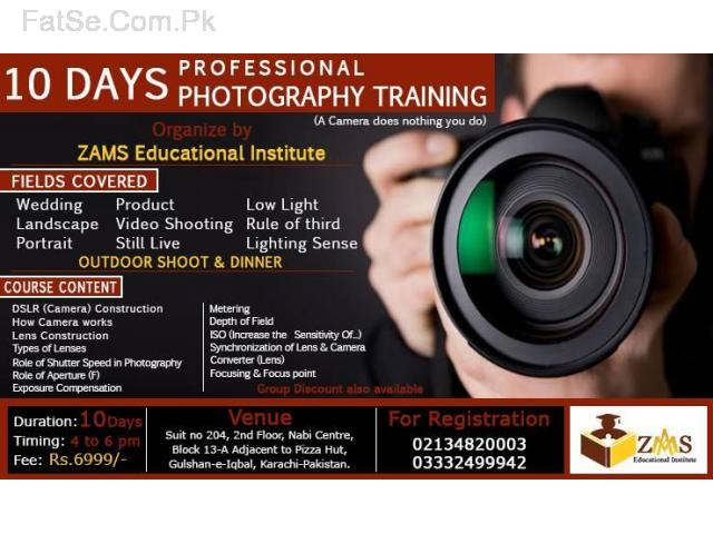 Professional Photography Training in 10 Days.